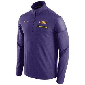 Nike LSU Tigers Coaches Jacket 1/2 Zip Large NEW